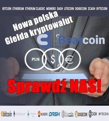 Nowa polska giełda kryptowalut BeatCoin