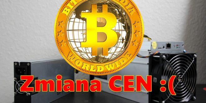 Zmiana cen w kopalni kryptowalut Bitcoin India ™