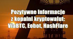 Pozytywne informacje z kopalni kryptowalut ViaBTC, Eobot, HashFlare