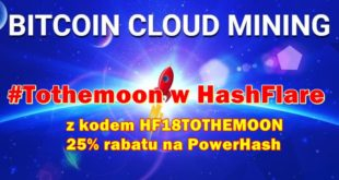 #Tothemoon w kopalni kryptowalut HashFlare