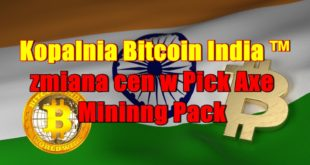 Kopalnia kryptowalut Bitcoin India ™ zmiana cen w Pick Axe Mininng Pack
