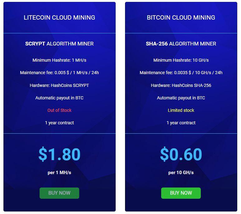 Kopalnia kryptowalut HashFlare zmiana cen