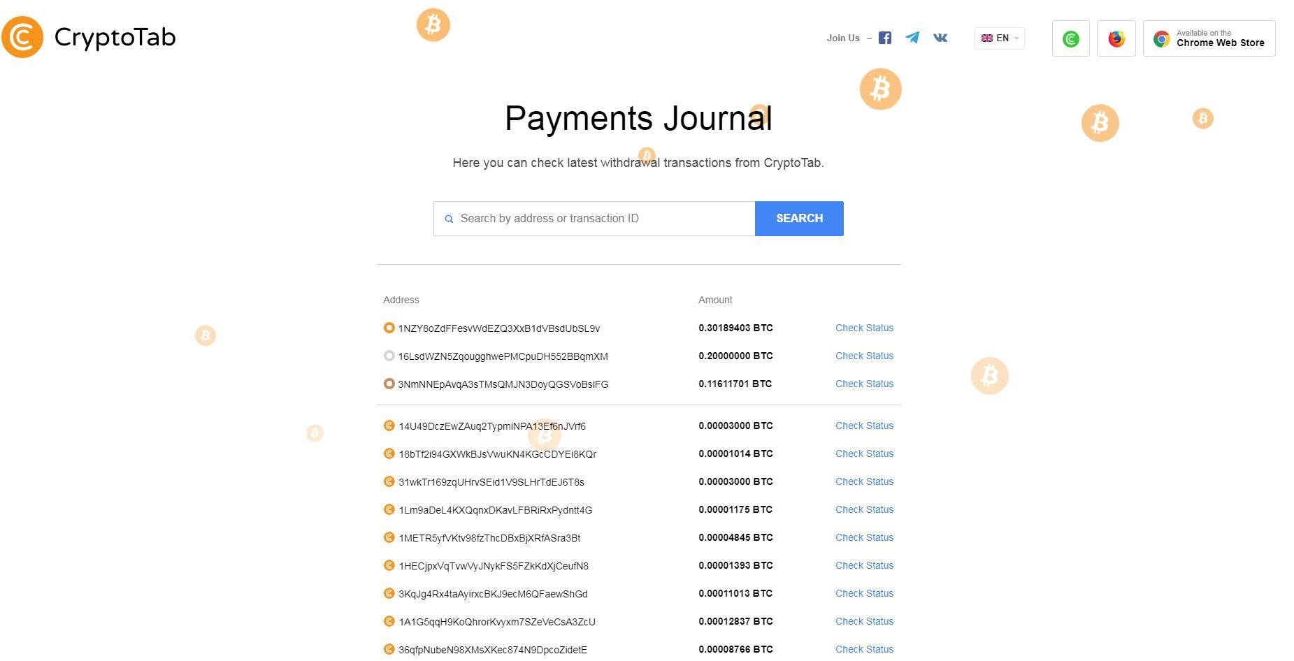 Przeglądarka CrypotoTab płatności