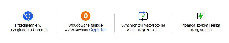 Przeglądarka CrypotoTab zalety