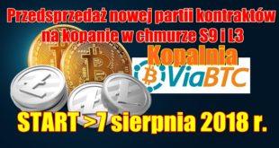 Nowe kontrakty wydobywcze Bitcoin i Litecoin w kopalni keryptowalut ViaBTC