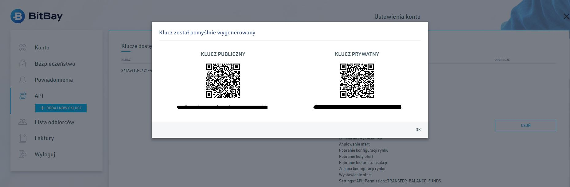 KryptoBot dodanie klucza API BitBay