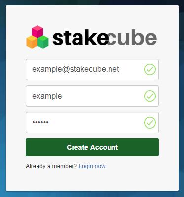 Stake Cube rejestracja i logowanie