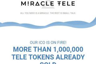 Wiecej niż 1 000 000 tokenow TELE już sprzedane, Miracle Tele
