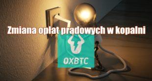 Zmiana opłat prądowych w kopalni OXBTC