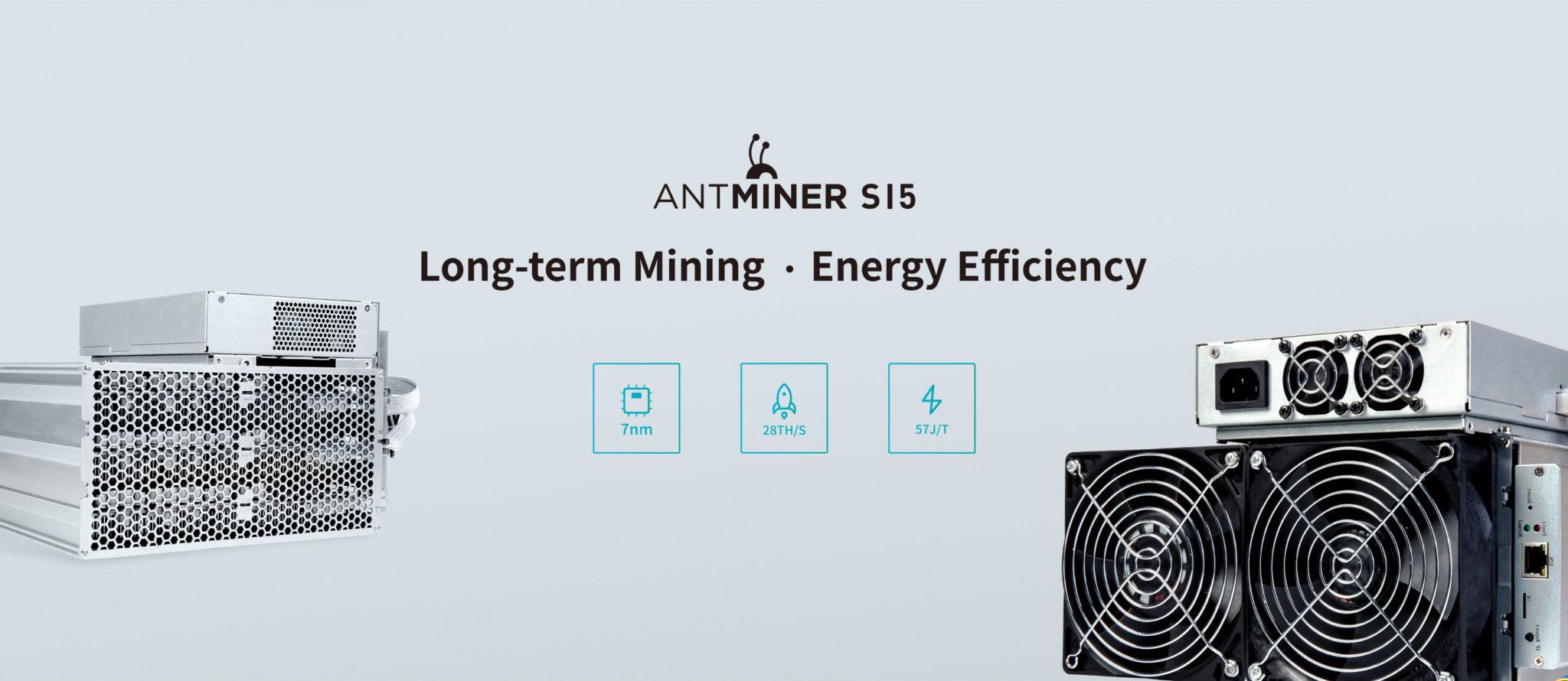 Kopalnia OXBTC uruchamia kontrakty Bitcoin BTC Antminer 7nm S15 3
