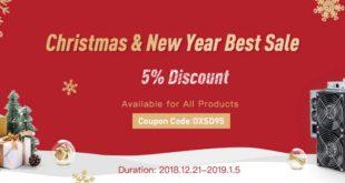 W OXBTC świąteczna i noworoczna wyprzedaż z 5% rabatem. Nagroda Hashrate za 255 USD