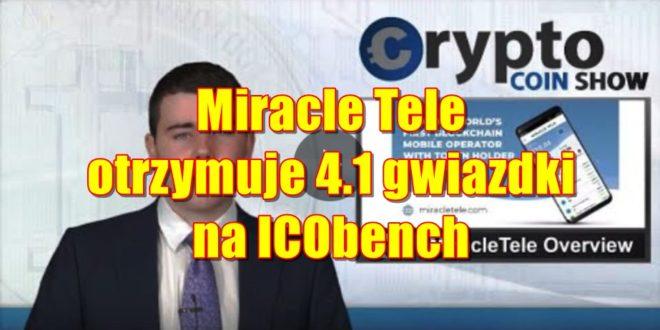 Miracle Tele otrzymuje 4.1 gwiazdki na ICObench