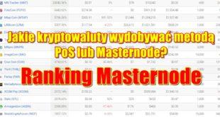 Jakie kryptowaluty wydobywać metodą PoS lub Masternode. Ranking Masternode