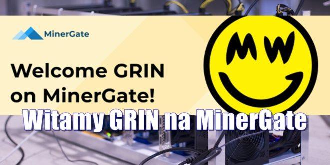 Witamy GRIN na MinerGate