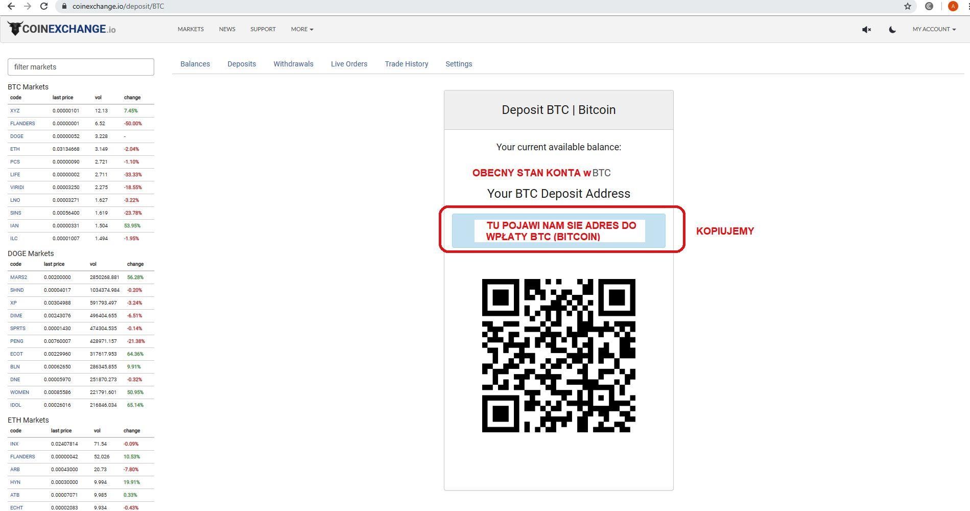 jak inwestować w kryptowaluty giełda coinexchange depozyt Bitcoin adress