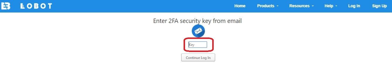 Eobot logowanie do systemu wpisujemy security key