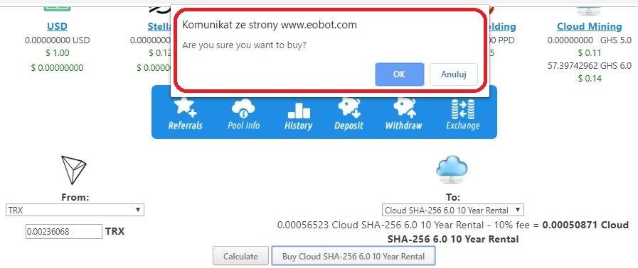 Eobot zakup mocy wydobywczej 8