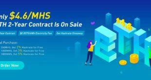 Kopalnia OXBTC tylko 4,6 USD MHS, 2-letnia umowa wydobywcza ETH