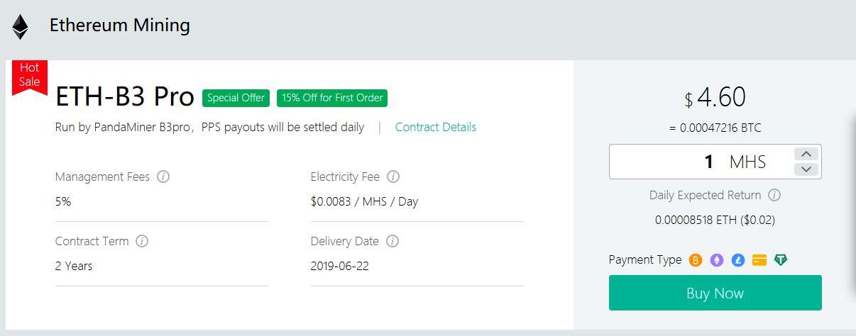 OXBTC kontrakty wydobywcze Ethereum PandaMiner B3 Plus 2