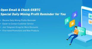 Super informacje z kopalni OXBTC - powiadomienie o dostosowaniu opłaty za energię elektryczną