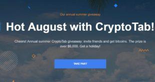 Gorący sierpień z CryptoTab!