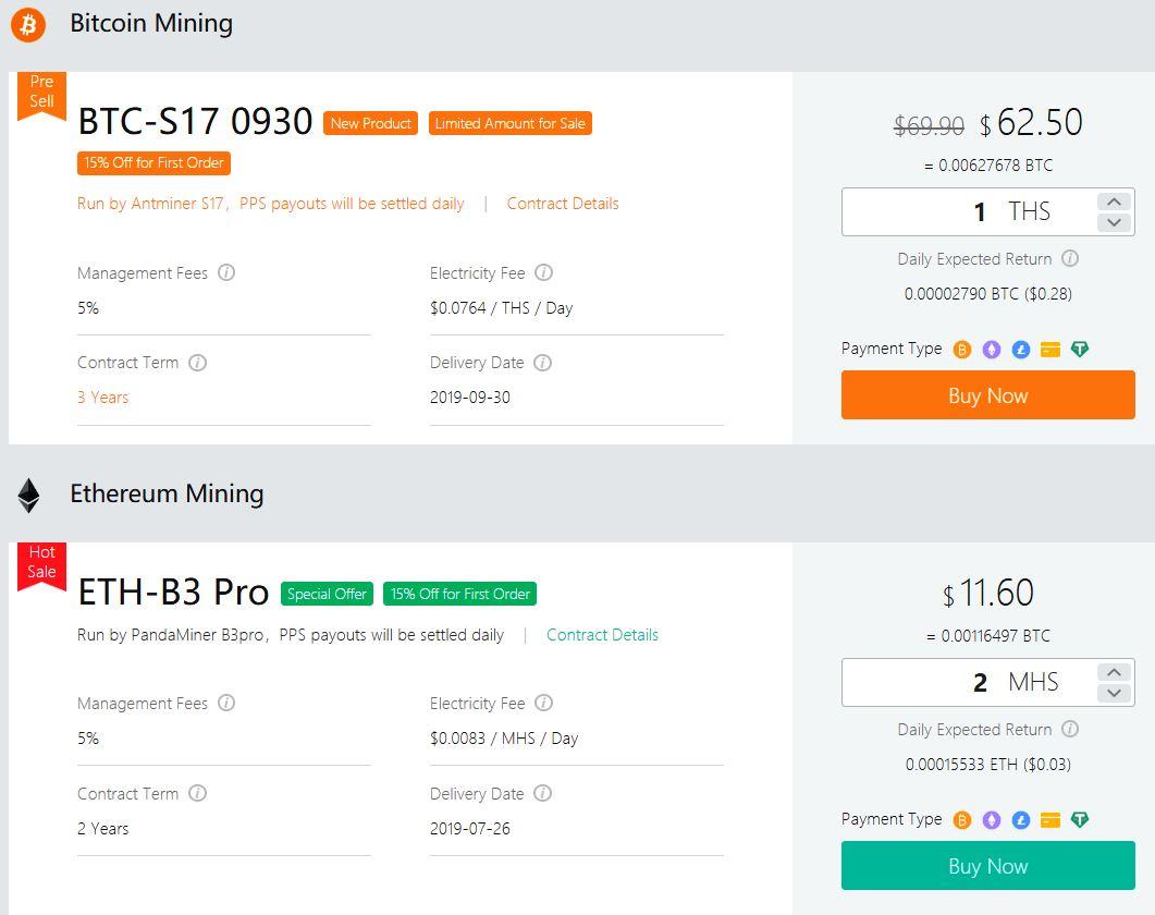 Kontrakty wydobywcze Bitcoin i Ethereum OXBTC