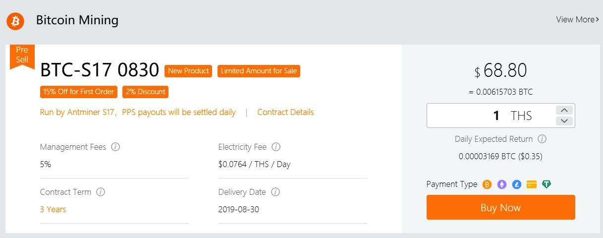 kontrakt BTC-S17 0830 kopalnia OXBTC