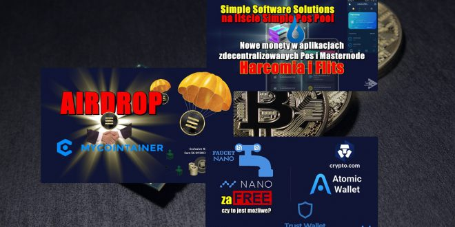 Nano za free! Simple Software Solutions na liście Simple Pos Pool. AIRDROP Exclusive Coin (EXCL). Bitcoin osiągnie nowe ATH. Nadchodzi era Bitcoina