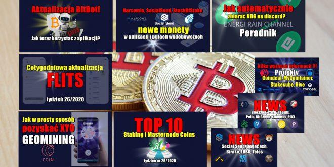 Top 10 Staking i Masternode Coins – tydzień nr 26/2020. Jak w prosty sposób pozyskać XYO – GEOMINING. Jak automatycznie zbierać NRG na discord?