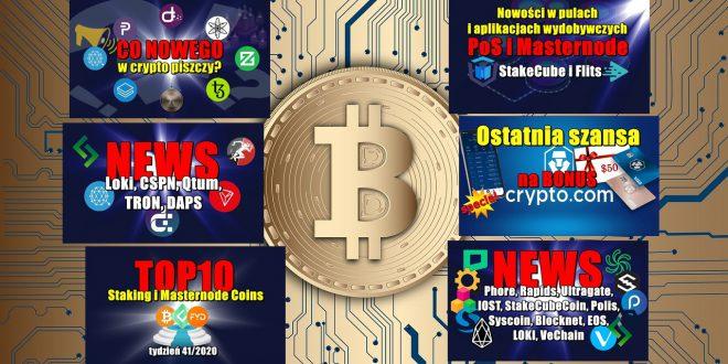 Top 10 Staking i Masternode Coins – tydzień 41/2020. Nowości w pulach i aplikacjach wydobywczych PoS i Masternode: StakeCube i Flits