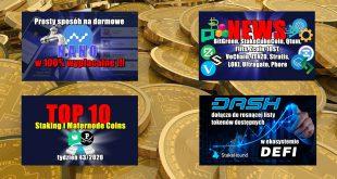 Top 10 Staking i Maternode Coins – tydzień 432020. DASH dołącza do rosnącej listy tokenów dostępnych w ekosystemie DeFi z StakeHound