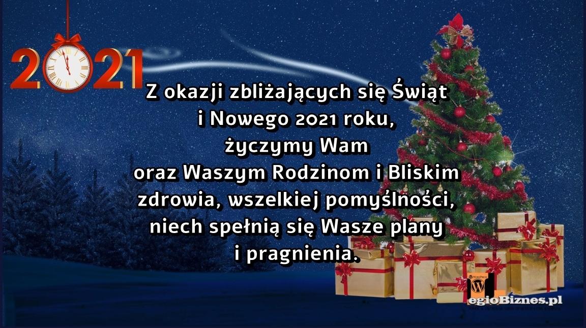 Życzenia na Boże Narodzenie 2020 i Nowy Rok 2021