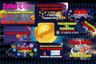 CakeDefi pula miningowa i nie tylko. AirDrop DEFI o wartości 30$! Nowe zyski z Masternodów w Yieldnodes. Podsumowanie cashback w Crypto.com