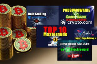 TOP 10 Masternode – tydzień 132021. VAULT Crypto Investments, raport tygodniowy. Zdobywaj Chainlink, Ox, BAT, LTC, BTC na Blockreward