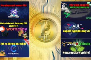 Gdzie stakować darmowy EOS VAULT Crypto Investments, raport tygodniowy. YieldNodes = Ekologia. Nowa opcja wypłaty!