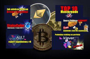 TOP 10 Masternode – tydzień 182021. 10 najlepszych monet POS – tydzień 182021. StakeCube informacje. Podwójny staking na Klever
