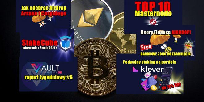 TOP 10 Masternode – tydzień 18/2021. 10 najlepszych monet POS – tydzień 18/2021. StakeCube informacje. Podwójny staking na Klever