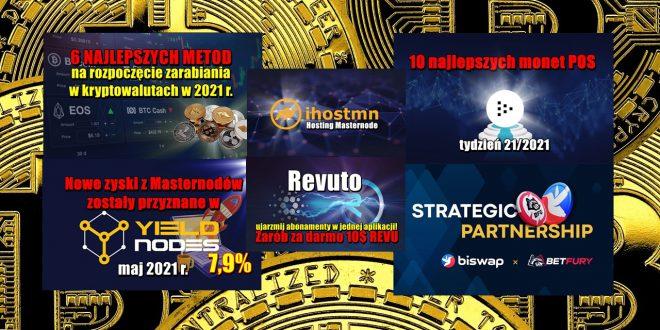 Revuto, ujarzmij abonamenty w jednej aplikacji! Nowe zyski z Masternodów zostały przyznane w Yieldnodes. Partnerstwo strategiczne Biswap i BetFury