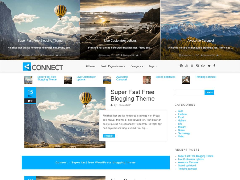 Connect – darmowy, elegancki motyw dla Twojego Bloga