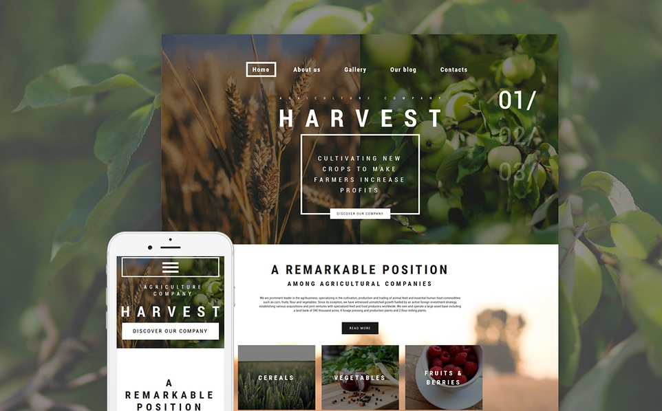 harvest-wordpress-theme
