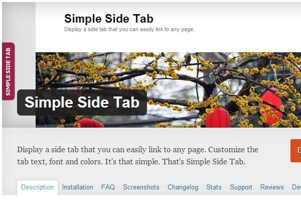Chcesz zainteresować czytelnika jakąś informacją, skorzystaj z wizualnego odsyłacza, wtyczka Simple Side Tab