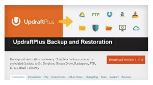 UpdraftPlus WordPress Backup Plugin – kopia bezpieczeństwa