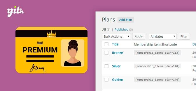 Stwórz plan członkowski w swoim sklepie,YITH WooCommerce Membership Premium