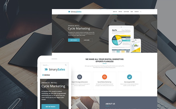 SEO & Digital Marketing Responsywny motyw WordPress