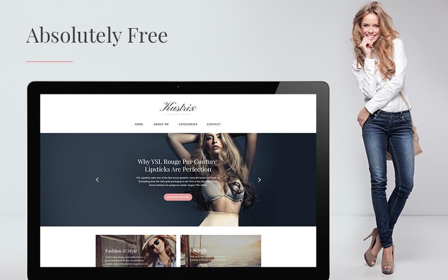 Motyw dla strony o modzie i urodzie – Kustrix Lite