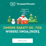 Zimowe rabaty w TemplateMonster na motywy: WordPress, WooCommerce, Drupal, Magento, Shopify i PrestaShop