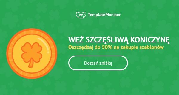 Uzyskajcie zniżkę do 50% na szablony od TemplateMonster