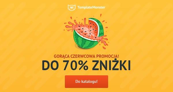 Gorąca promocja templatek w TemplateMonster