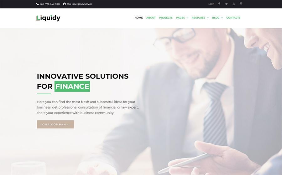 Motyw WordPress Liquidy
