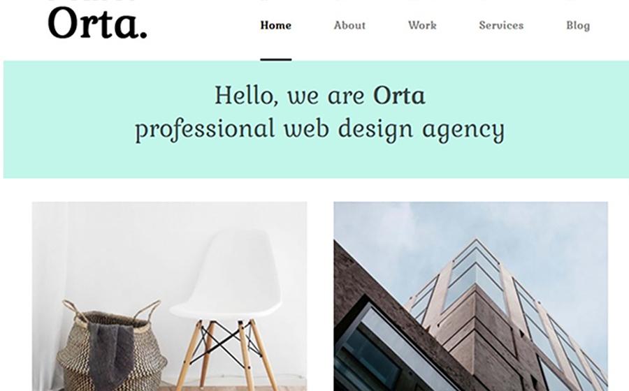 Motyw WordPress Orta